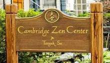 Cambridge Zen Center sign welcomes people of all backgrounds.